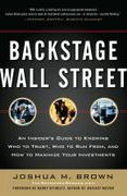 book covers backstage wall street