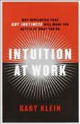 book covers intuition at work