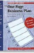 book covers the one page business plan