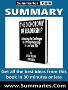 summary covers the dichotomy of leadership